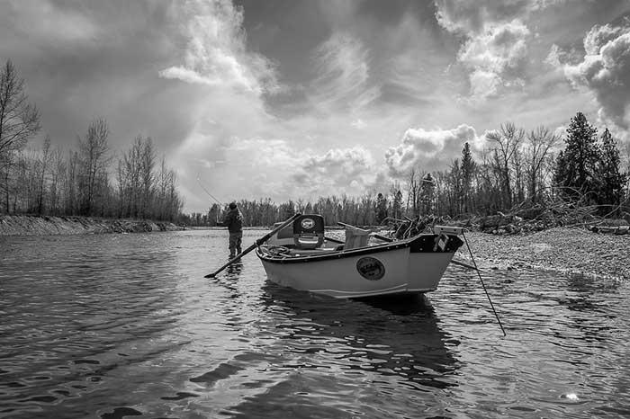 Skwala fishing on the Bitterroot