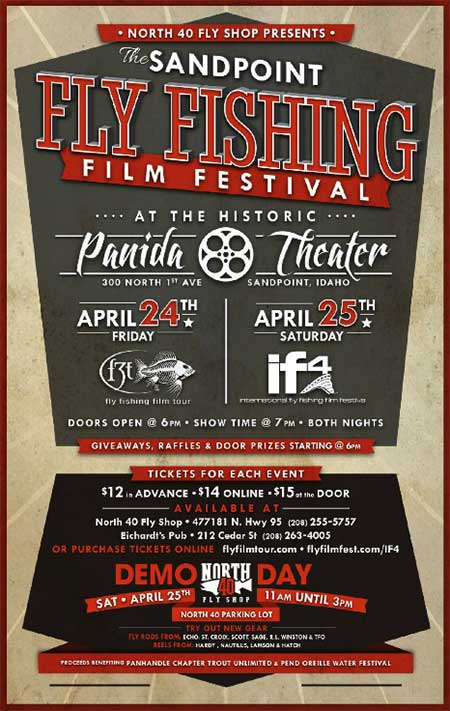 Sandpoint fly fishing film festival this weekend for Fly fishing film festival