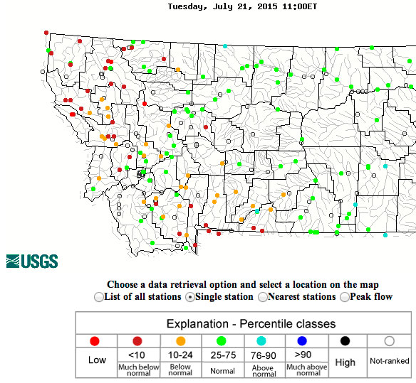 Today's flow map at approx 9 MDT