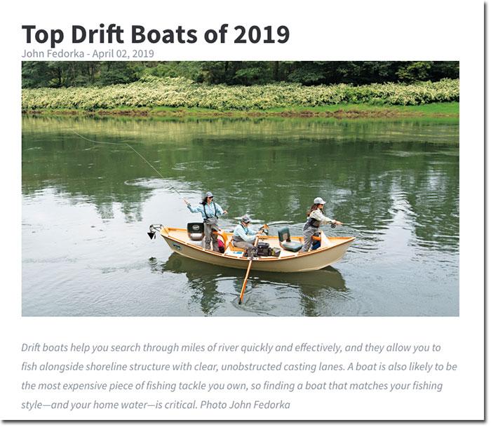 Top Drift Boats Of 2019 Via Fly Fisherman